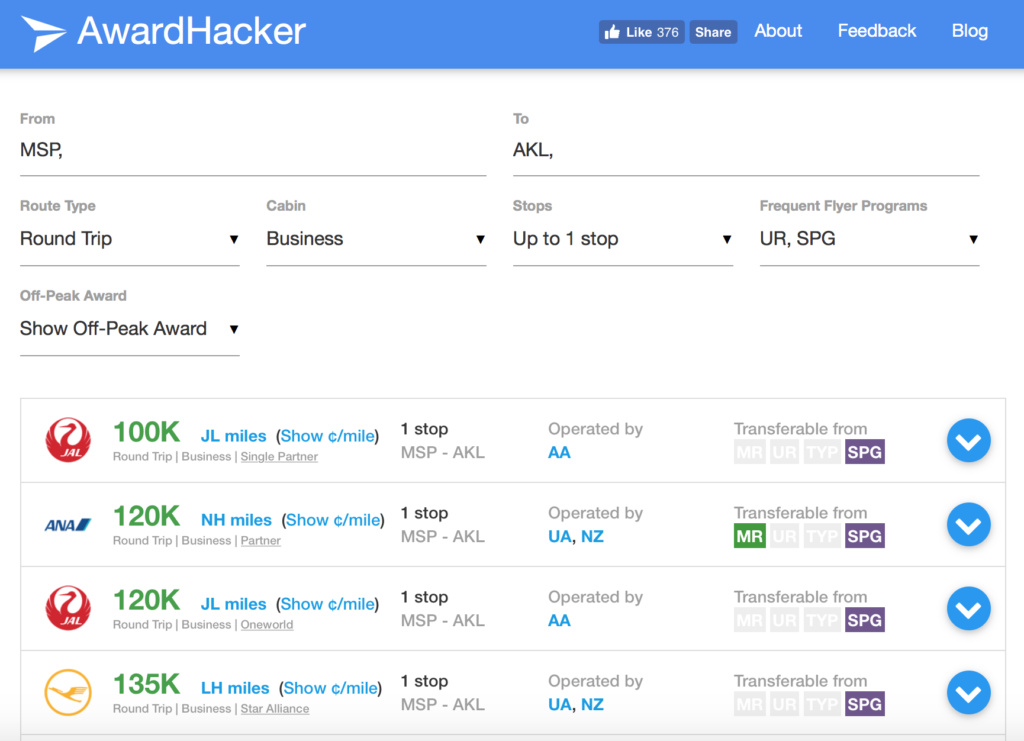 award-hacker-flight-award-search-tool
