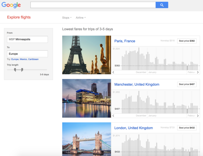 Google flights explore best discount cheap flight search for Best travel discount websites
