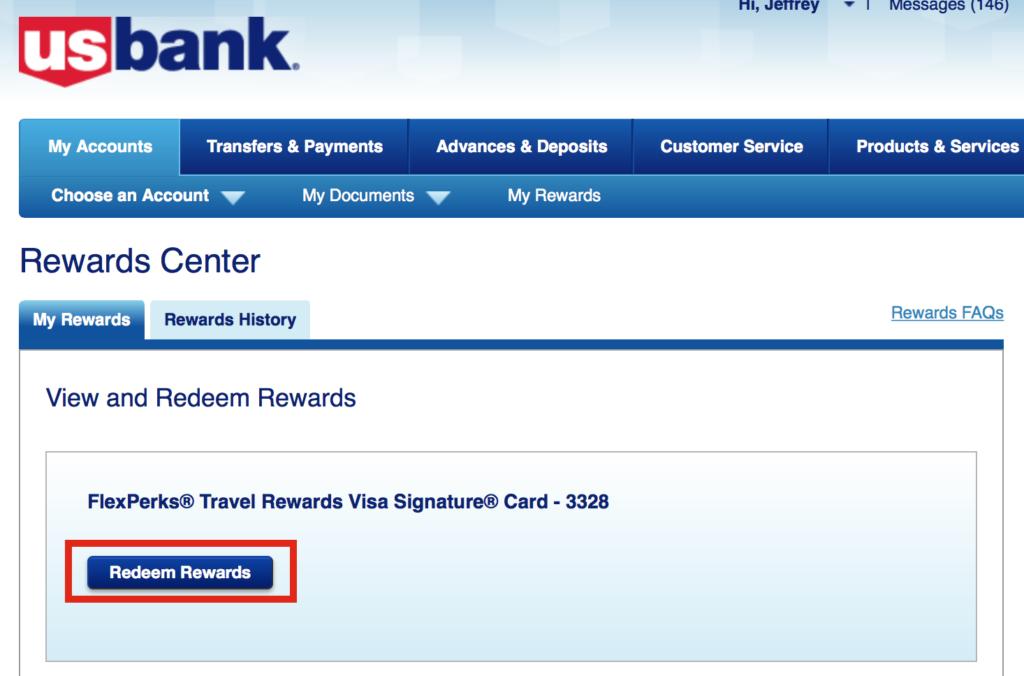 us bank login rewards