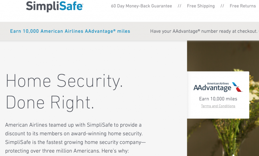 American-airlines-miles-home-security-system