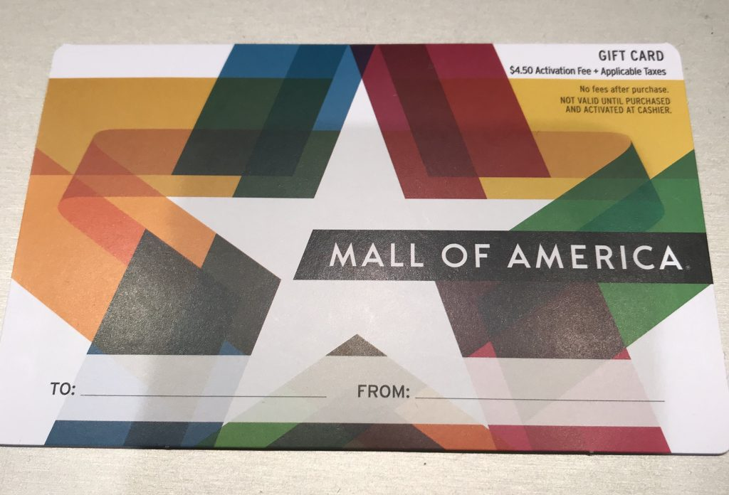 new mall of America gift card
